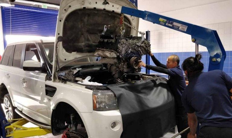 замена цепи грм range rover СТО